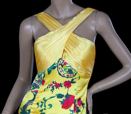 společenské šaty žluté Prue